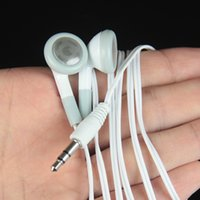 Wholesale White Earphone 3.5mm Disposable Cheap Earbuds Headphone No Mic For Mobile Phone MP3 MP4