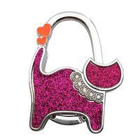 Tools Rails 1 шт. Мини милый кошка складной вешалка держатель стол крючок для кошельки сумки сумка ткань зажима на заднем сиденье зажимы