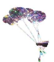 Yeni LED Işıklar Balonlar Gece Aydınlatma Bobo Topu Renkli Dekorasyon Balon Düğün Dekoratif Parlak Çakmak Balonlar Ile