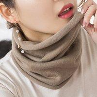 Hlicum mulheres cashmere knit anel cachecóis 30 cm pescoço aquecedor cor sólida conforto elástico conforto falso colar feminino inverno um laço de loop 201216