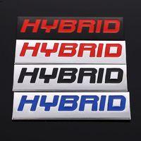 3D 금속 자동차 스티커 현대 하이브리드 하이브리드 하이브리드 하이브리드 하이브리드 하이브리드 엠블럼 배지 데칼 Honda Toyota Porsche Racing Lexus Chevrolet Kia
