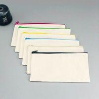 연필 케이스 대용량 편지지 가방 지퍼 연필 펜 가방 크리 에이 티브 캔버스 가방 학교 학생 공급 지퍼 연필 펜 가방