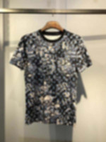 맨스 디자이너 봄 여름 위장 그라데이션 편지 티셔츠 패션 후드 남자 여성 캐주얼 코튼 티셔츠 블랙