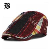 Visiere [FLB] Großhandel Patchwork Barett Hut Casquette Baumwolle Hüte für Männer und Frauen Anpassung Sonne Gorras Flachkappen Einstellbar1