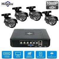 HISEEU 4CH 1080P Kit de sécurité de la caméra de sécurité CCTV IP Caméra IP IR Remote Access Mouvement Alerte Vidéo SURVEILLANCE NVR SET1