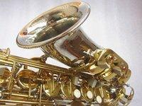 العلامة التجارية الجديدة ألتو ساكسفون النيكل مطلي الفضة الذهب مفتاح المهنية سيكس مع علبة المعبرة والاكسسوارات شحن مجاني