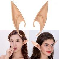Party Masks Top-1 par PVC Fairy Pixie Fake Elf Ears Halloween Mask Decoración de miedo Soft Pointed Próthetic L1