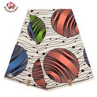 Tela africana en blanco y negro, patrón de estrella, tela de poliéster ankara, tela de costura de impresión de cera, operación manual8uy