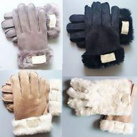 Mode Fellhandschuhe Marke Designer Handschuhe Frauen Männer Winter Warme Luxushandschuhe Sehr gute Qualität Finger Finger Deckeln Dwe3265