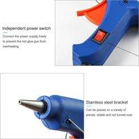Kit de anti-cubierta extraíble de pistolas de pegamento Mini con disparador flexible para el sellado de proyectos de artesanía pequeña DIY 20W1