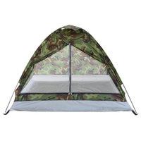 Tomshoo ماء التخييم خيمة pu1000mm البوليستر النسيج 1 أو 2 الناس. خيمة طبقة لبينغ للسفر في الهواء الطلق المشي لمسافات طويلة 200 * 130 * 110 سنتيمتر