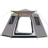 Gratuit pour construire rapidement une tente hexagonale ouverte en plein air 3-4 Automatique épaissie d'eau résistant à l'eau-personne auvent auvent jardin pergola