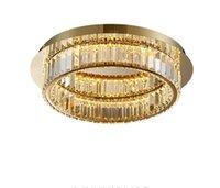Ücretsiz kargo Altın tavan chandeleir oturma odası mutfak avize çatı katı aydınlatma kristal ev dekorasyon için
