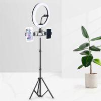 Lampe de bague Selfie de 33 cm RGB avec 2m de 1,6 m 0.5m Trépied USB Coloré Photographie de photographie colorée avec télécommande pour YouTube Tiktok