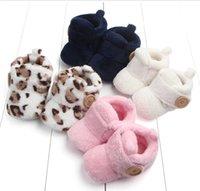 Зимний коралловый флис новорожденные детские ботинки теплые младенческие девочка мальчик обувь для первых ходунок нескользящая малыша Schoenen GD1039