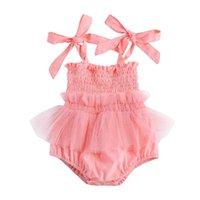 Baby Romper Girls Tuta Tuta Pizzo Neonato Pagliaccetti Onesies Summer Princess Dress Toddler One Piece Abbigliamento 0-2Y Vestiti infantili B3897