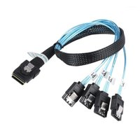 Cable SATA SAS MINI-SAS SFF-8087 a 4 Cable SATA MINI SAS 4I SFF8087 36P A 4 7P 12GBPS 50 cm Datos de disco duro1