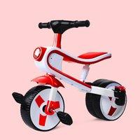 Crianças Três Roda Triciclo Bebê Balança Balança Deslizante Carro Crianças Scooter Passeio em Brinquedos Carwith Light Music 3-6y