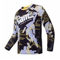 Yibimotto Yeni Off-Road Hız Teslim T-Shirt Açık Polyester Hızlı Kuruyan Takım Motosiklet Yarışı Uzun kollu T-Shirt Özelleştirilebilir