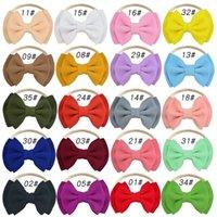 4.7inch Baby Bögen Stirnbänder Elastische Tuch Mode Haarband Zubehör Weihnachten Headwear Ornamente Multi Color 2 5be G2