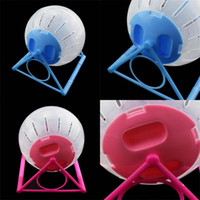 Color Cover Pet Running Ball Hamster Bracket Roller Bodybuilding Esportes Corredor De Cristal Transparente Plástico Pets Fontes Venda Quente 5 49JY M2
