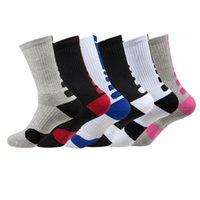 Moda 2pcs = 1pair Stati Uniti Professionista Elite Basketball calzini lunghi al ginocchio atletici dei calzini di sport degli uomini di compressione termica invernale 2021 DHL FY7322