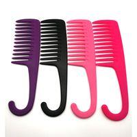 Big Dents Résistant à la chaleur Grande Large Large Tooth Peigne Désactivant la coiffure Réduire les outils de coiffure de la perte de cheveux Q Jlbxi