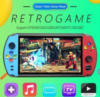 """X19 레트로 핸드 헬드 게임 플레이어 8GB 7.0 """"LCD 컬러 스크린 비디오 게임 콘솔 VS 620 821 x7 x12"""