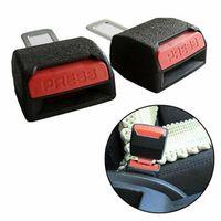 2pcs 업데이트 두꺼운 자동차 시트 벨트 클립 확장기 안전 안전 벨트 잠금 버클 플러그 두꺼운 삽입 소켓 Extender 안전 버클