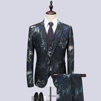2021 Новый мужской свадьба смокинг жених новичок Новый корейский мужской костюм хоста производительности платье жениха ночной клуб мужской костюм