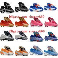 2020 Top Quality Hommes Cleats de football Mercurial Superfly 7 Vaporx 13 Elite FG Chaussures de football CR7 Bottes de football Chuteiras Scarpe Da Calcio