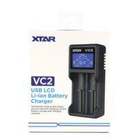 18650 18350 26650 21700 리튬 이온 배터리 충전기 브랜드 2020 원래 XTAR VC2 용 체기기 NIMH 배터리 충전기 배터리 충전기 LCD