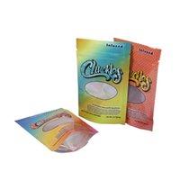 Chuckles Mylar Bag Cheiro à prova 57.7 gramas levantam-se fecho de zip mini cor cintos de arco-íris pêssego anéis de pêssego