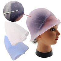 السيليكون يسلط الضوء قبعة قابلة لإعادة الاستخدام تلوين الشعر تسليط الضوء على صبغ كاب صقيع البقشيش الصباغة أدوات لون الشعر أدوات التصميم