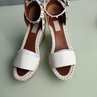 Europäischer großer name luxusgüter, stil frauen sandal feine ferse schuhe, sandalen, formale, gewebte allein echtes leder, mehr farbe