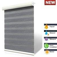 Shades à rouleaux zèbres imperméables ignifuges Deux stores personnalisées manuelle manuelle ou électrique ASCTB1 High Color Color Steideness1