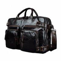 Couro genuíno homem Projeto Multifunction Purpose Maletas Maletin Negócios Briefcase 15 Laptop Bag Tote Bag Portfolio K1013 metal Breve G4jK #