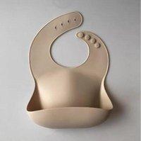 Baberos de silicona alimentación para bebés saliva toalla sólida impermeable impermeable suave alimentación pañuelo liviano liviano baberos delantales delantales baberos ajustables delantal ZZC5537