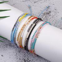 Богемные красочные стеклянные шарики семян браслет 3 слоя boho смешанный триламинарный браслет для женщин девушки с дружбой карточка 140 o2