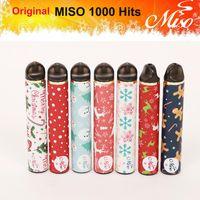 100% Оригинал MISO 1000 хитов Одноразовые Vape POD Устройство 650 мАч Батареи Plus Plus Bang XXL Pro Max Puff XXL XTRA E-CIGS для Рождества