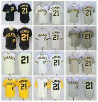 Homens Beisebol Retire 21 Roberto Clemente Jerseys 1960 1962 1971 Vintage Cooperstown Flexbase Cool Base Pullover Bordado e costurado