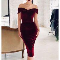 Schulter bodycon bandage kleid vestidos frauen sommer sexy elegante samt midi celebrity party kleider sj1466e1