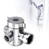 다기능 3 방향 샤워 헤드 다이 버터 밸브 G1 / 2 3 기능 스위치 어댑터 커넥터 T- 어댑터 용 화장실 비데 샤워 용