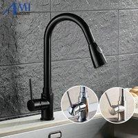 Herausziehen Armaturen Küchenhahn Schwarze Badezimmer Waschtisch Mischbatterie Wasserhahn 2 Funktion Springstream KL8055B1