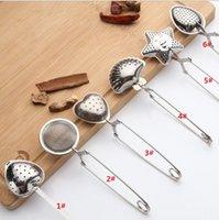 Paslanmaz Çelik Çay Süzgeci Çay Kaşık Baharat Demlik Yıldız Kabuk Oval Yuvarlak Kalp Şekli Süzgeç Teaware