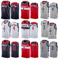 Drucken Basketball Russell Westbrook Jersey 4 Bradley Beche 3 Rui Hachimura 8 Robin Lopez 42 Cassius Winston 5 Deni Avdija 9 City Grey