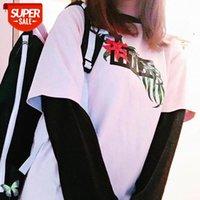 KITH T Gömlek Erkek Kadın Rahat T Shirt Harajuku Erkek Arkadaşı Hediye Çiçek Baskılı # FX8P