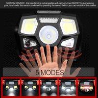 5 мод Светодиодные фары USB заряда Водонепроницаемый на открытом воздухе ночной рыбалка на фонаре велосипедная головная лампа горячей продажи 23ak M2