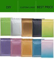 Matt Couleur Sac à glissière refertable Sac à glissière Alimentaire Sacs d'aluminium Sacs en aluminium Sac d'odeur en plastique Sac