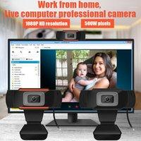 캠코더 고품질 1080P 웹캠 자동 초점 5M 웹 카메라 전체 HD 컴퓨터 화상 회의 / 비디오 통화 / Live1에 대 한 마이크가있는 전체 HD 컴퓨터